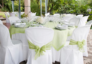 Green themed table dressing