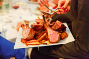 'Seconds' of roasted best end of lamb