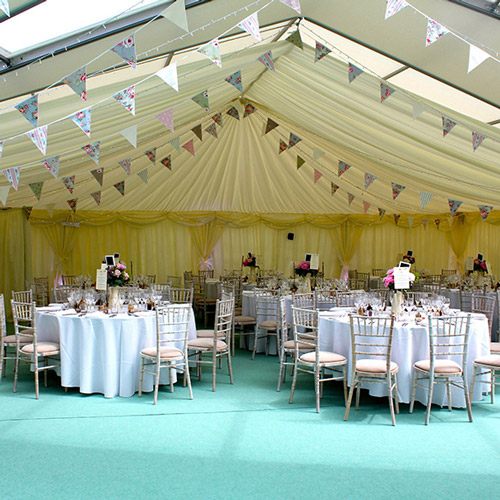 Beautifully styled wedding marquee from Lulu's Marquee
