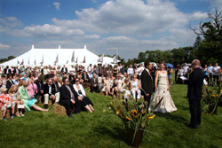 Riverside Weddings is a stunning marquee venue situated in a wild flower meadow on the banks of the River Thames