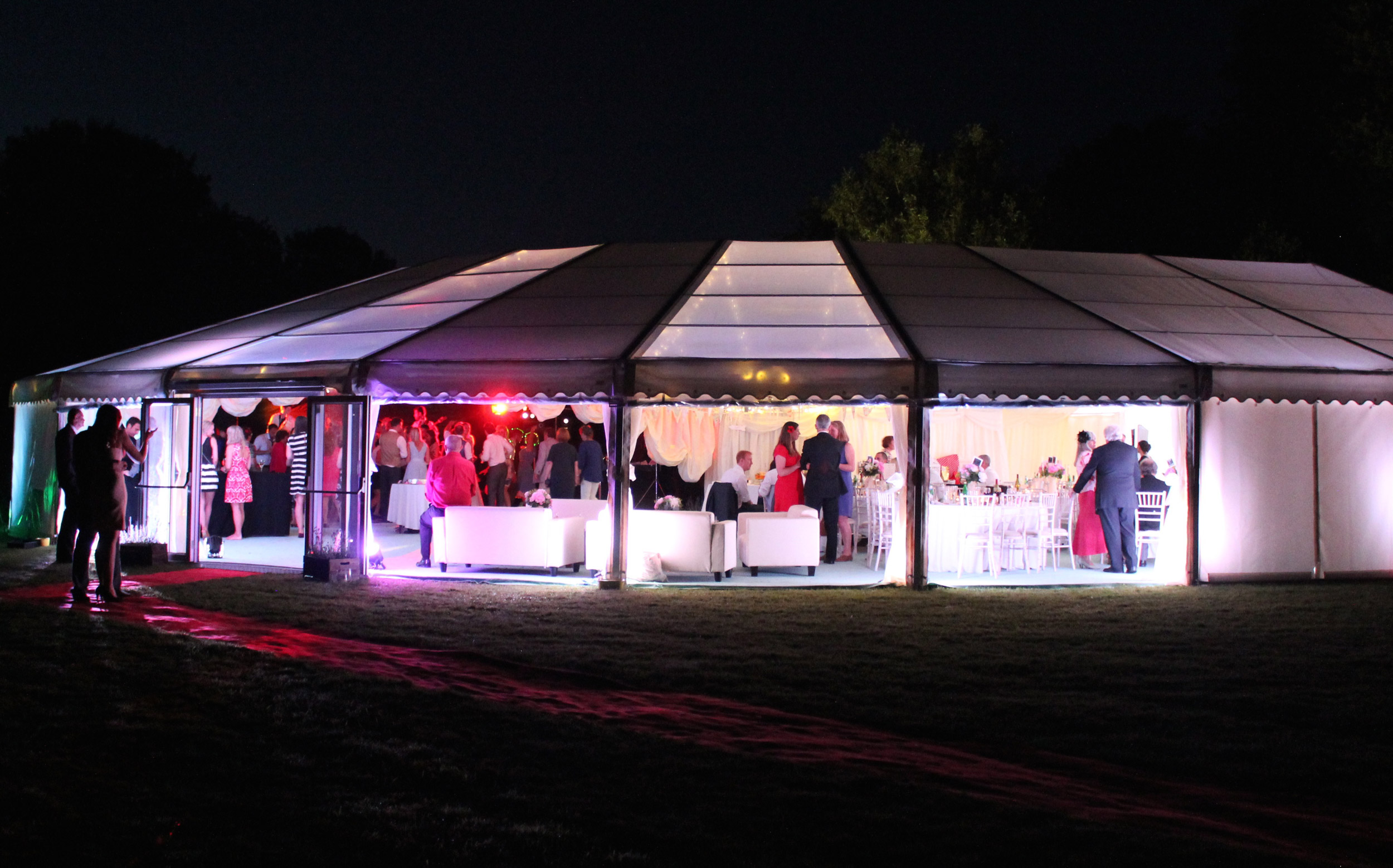 Luxury marquees with innovative new designs